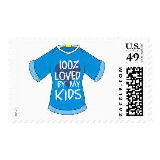 El 100% amado por mis niños sello postal