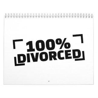 el 100% divorciado calendarios