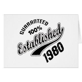 El 100% garantizado estableció el an o 80 tarjeta de felicitación