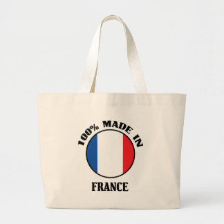 El 100% hizo en Francia Bolsa Tela Grande