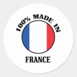 El 100% hizo en Francia Pegatina Redonda
