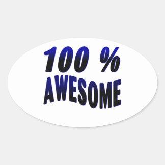 El 100% impresionante pegatinas de óval