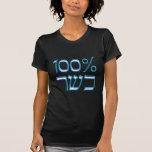 El 100% kosher en azul camiseta