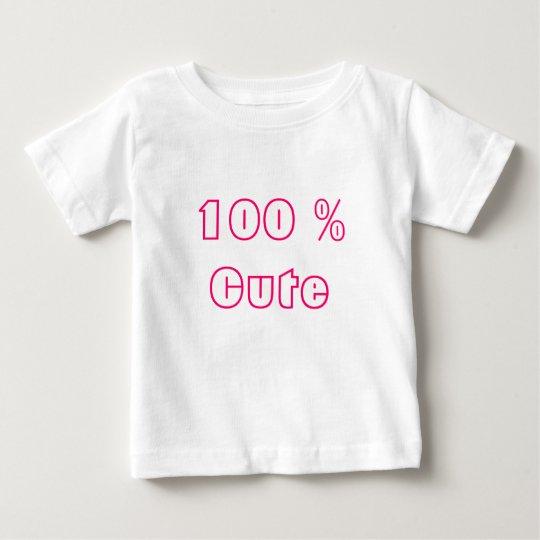 El 100% lindo playera de bebé