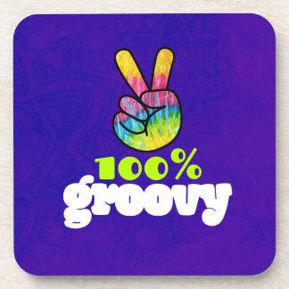 El 100% maravilloso con el signo de la paz de la posavasos