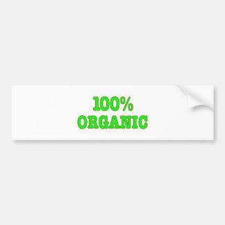 El 100 orgánico pegatina de parachoque