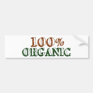 El 100 orgánico etiqueta de parachoque
