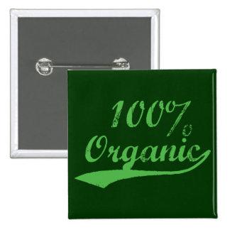 El 100% orgánico pin cuadrado