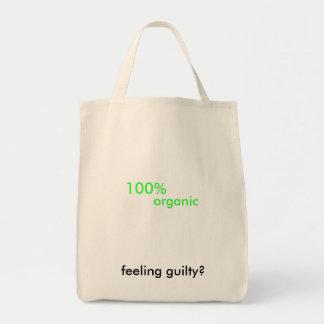 ¿el 100% orgánico, sintiendo culpable? bolsas