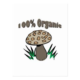 El 100% orgánico tarjeta postal