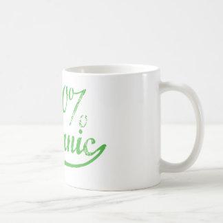 El 100% orgánico taza de café