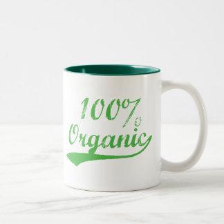 El 100% orgánico taza de café de dos colores