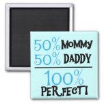 El 100% perfecto - camisetas y regalos azules imanes para frigoríficos