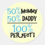 El 100% perfecto - camisetas y regalos azules pegatina redonda