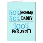 El 100% perfecto - camisetas y regalos azules tarjetón