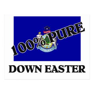 El 100 por ciento abajo Pascua Tarjeta Postal
