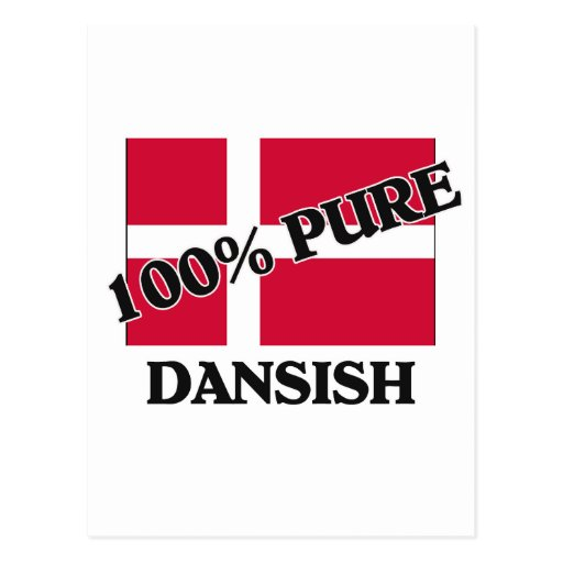 El 100 por ciento DANSISH Tarjeta Postal