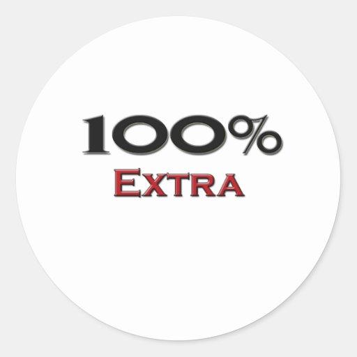 El 100 por ciento de adicional pegatinas redondas