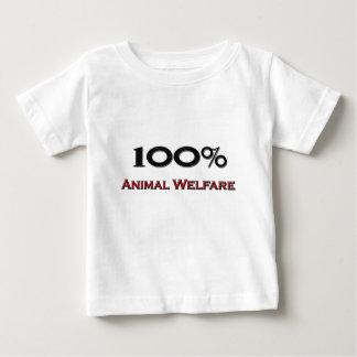 El 100 por ciento de bienestar animal playeras