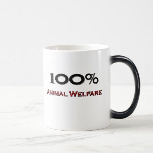 El 100 por ciento de bienestar animal taza mágica
