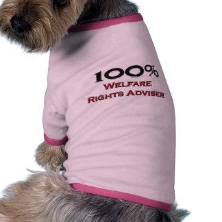 El 100 por ciento de bienestar endereza al conseje camisetas mascota