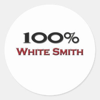 El 100 por ciento de blanco Smith Etiquetas Redondas