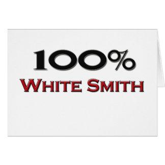 El 100 por ciento de blanco Smith Felicitaciones