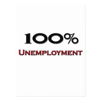 El 100 por ciento de desempleo tarjetas postales