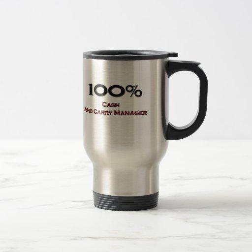 El 100 por ciento de efectivo - y - lleva al encar taza de café