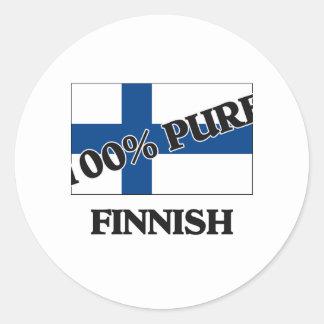El 100 por ciento de FINLANDÉS Etiqueta Redonda
