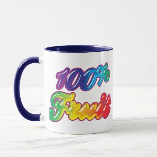 El 100 por ciento de fruta taza
