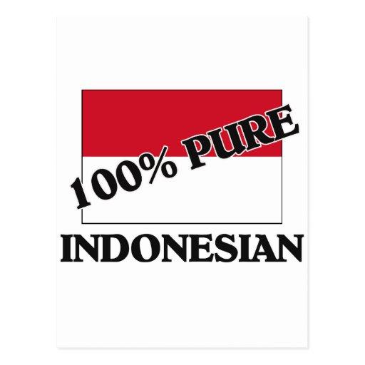 El 100 por ciento de INDONESIO Postal