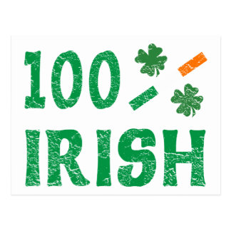 el 100 por ciento de irlandés tarjetas postales