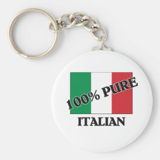 El 100 por ciento de ITALIANO Llavero Redondo Tipo Pin