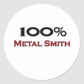 El 100 por ciento de metal Smith Pegatina Redonda