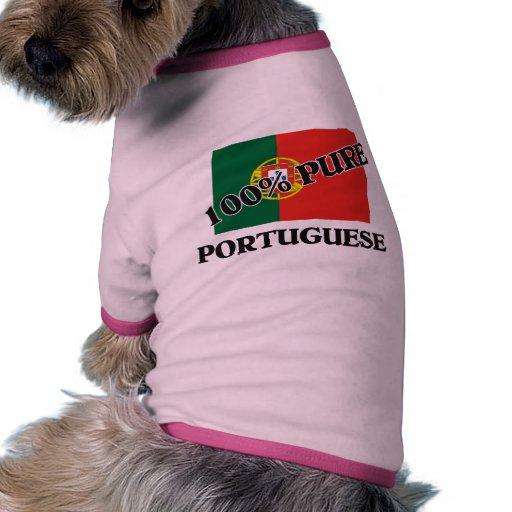 El 100 por ciento de PORTUGUÉS Camiseta Con Mangas Para Perro