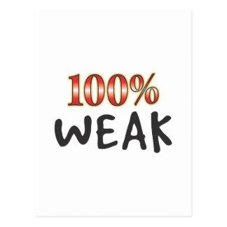 El 100 por ciento débil postales