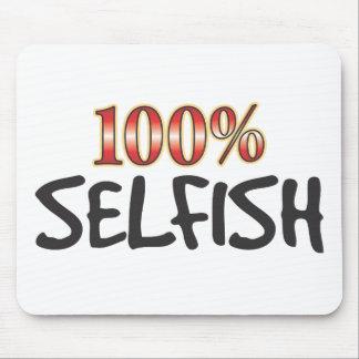 El 100 por ciento egoísta alfombrilla de ratones