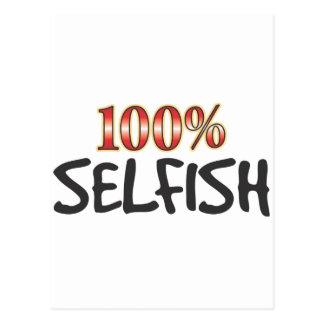 El 100 por ciento egoísta postal