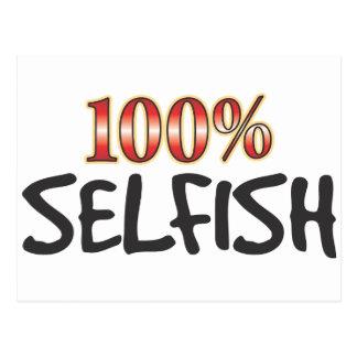 El 100 por ciento egoísta tarjetas postales
