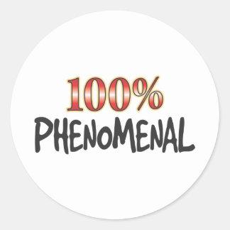 El 100 por ciento fenomenal pegatina redonda