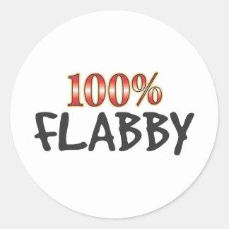 El 100 por ciento flácido etiqueta redonda
