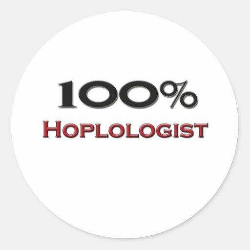 El 100 por ciento Hoplologist Pegatinas