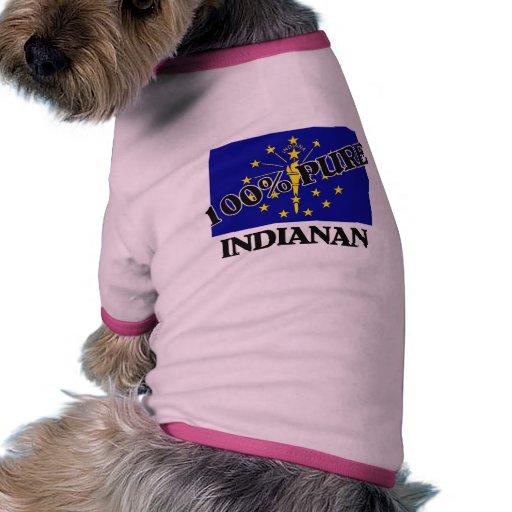 El 100 por ciento Indianan Camisa De Perro