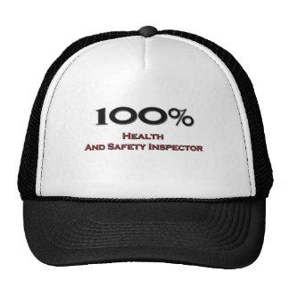 El 100 por ciento inspector de salud y de la segur gorras