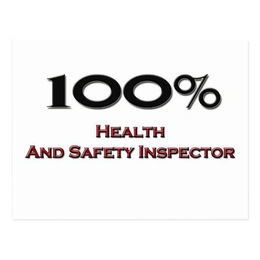 El 100 por ciento inspector de salud y de la segur postales