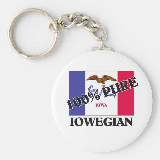 El 100 por ciento Iowegian Llaveros Personalizados