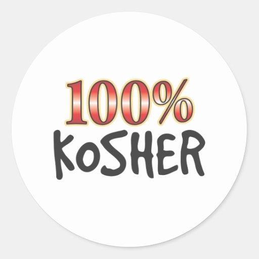 El 100 por ciento kosher etiquetas redondas