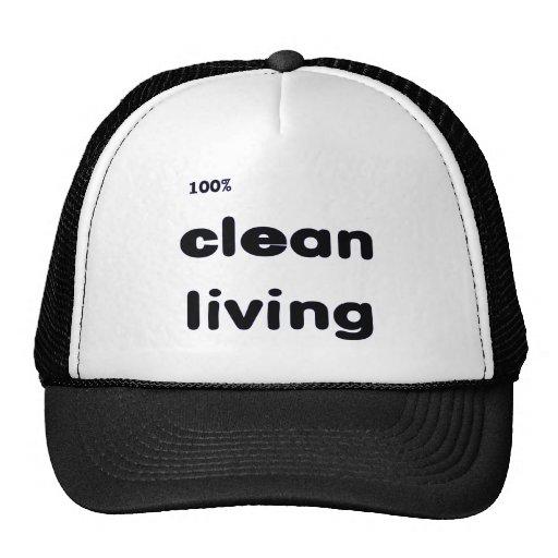 El 100 por ciento limpia el casquillo vivo gorro de camionero