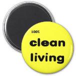 El 100 por ciento limpia el imán vivo